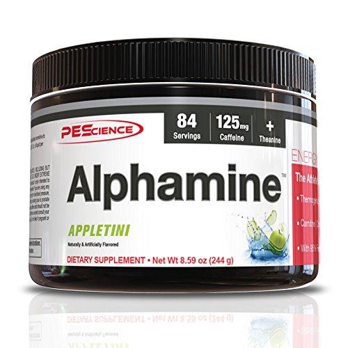 PEScience Alphamine, Appletini, 84 scoops, Versatile Thermogenic Energy Powder