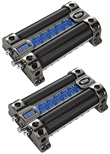 2) BOSS CAP8 8 FARAD LED Digital Voltage Display Car Audio Power Capacitors Caps by BOSS (Image #3)