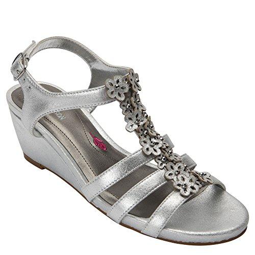 Ros Hommerson Women's Wanda Sandal,Dusty Silver Leather,US 12 M