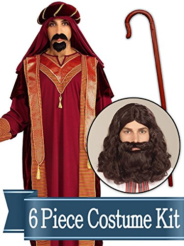 (BirthdayExpress Wiseman Biblical Easter Nativity Adult Costume Kit -)