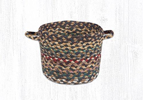 Earth Rugs Jute Shelf Baskets Ub-51 Fir/Ivory Utility Basket 9