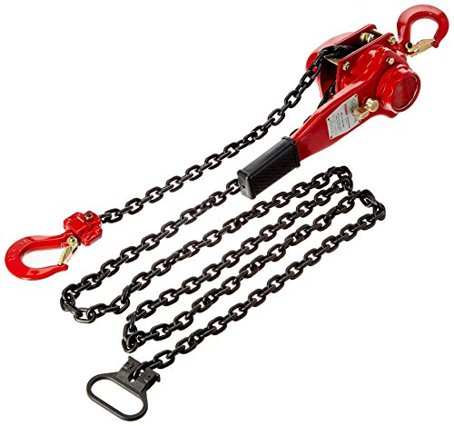 TOHO HSH-616 OP Lever Block/Ratchet Puller Hoist with Overload Protection (0.75 Ton, 10 Foot Chain)
