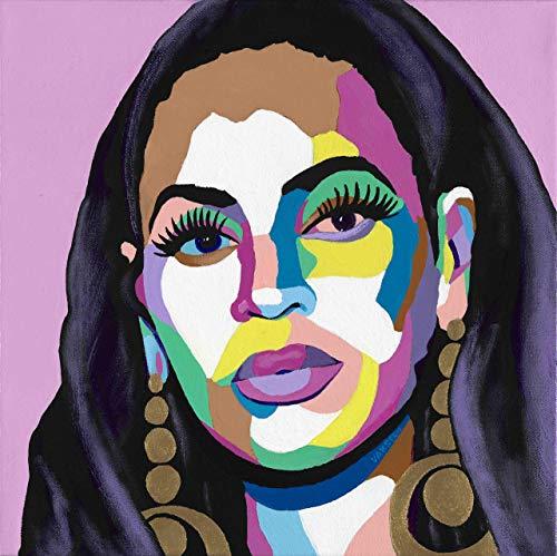 (Vakseen Art - Hail the Queen - Beyonce portrait art - Limited Edition Giclee Print & Framed Pop Art for Wall)