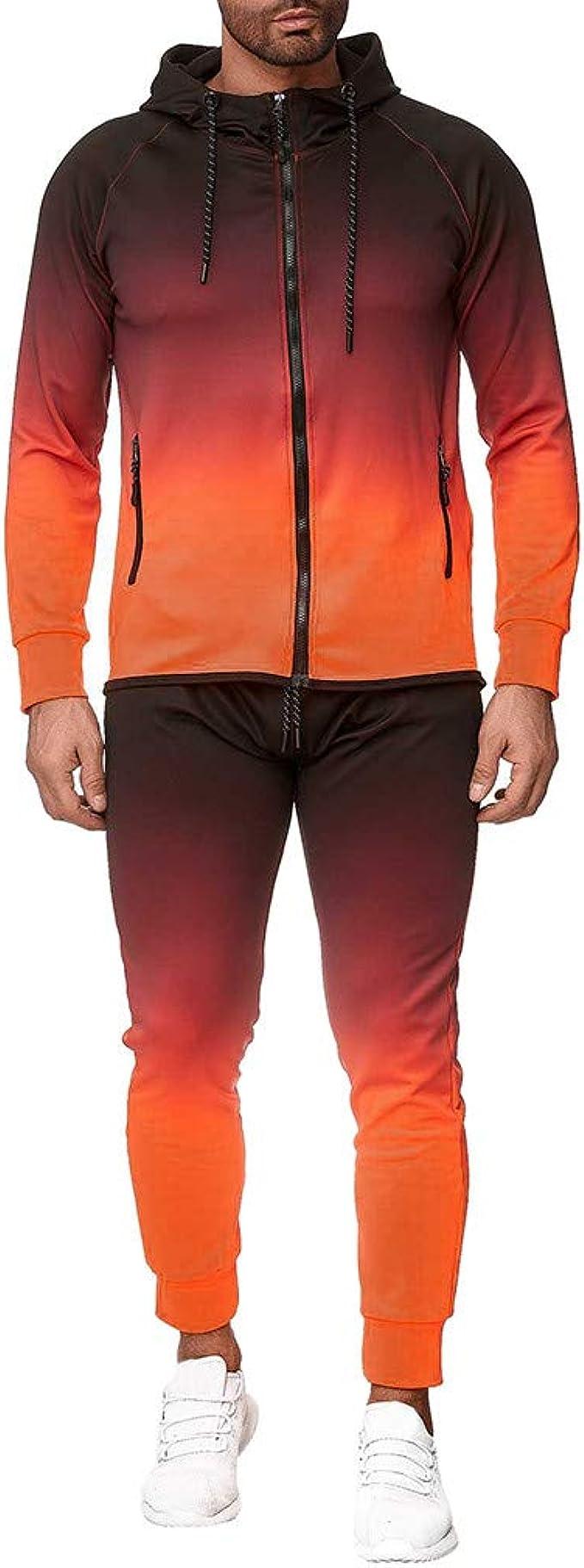 Sllowwa Herren Färben Jogging Anzug Trainingsanzug