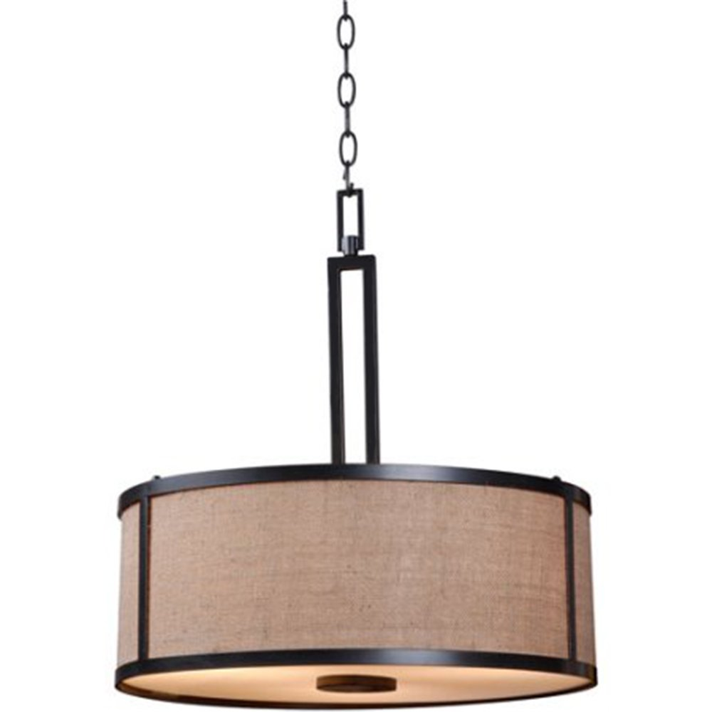Drum chandelier lighting 3 light pendant stylish round hanging lamp ceiling light fixture h 20 x w 19 inches hanging pendant lighting bronze color bonus
