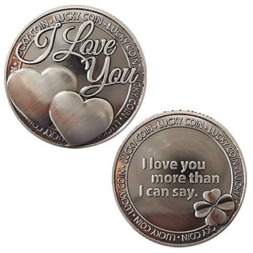 Lucky Love Coin I Love You Commemorative Coin, Commemorative Coin Lucky Love Words Romance Couple Collection Art Gifts Souvenir
