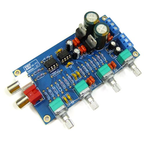 DROK NE5532 Preamp Volume Control Board 10 Times Pre-amp A51 Treble Median Bass Low Noise OPA Digital Controller
