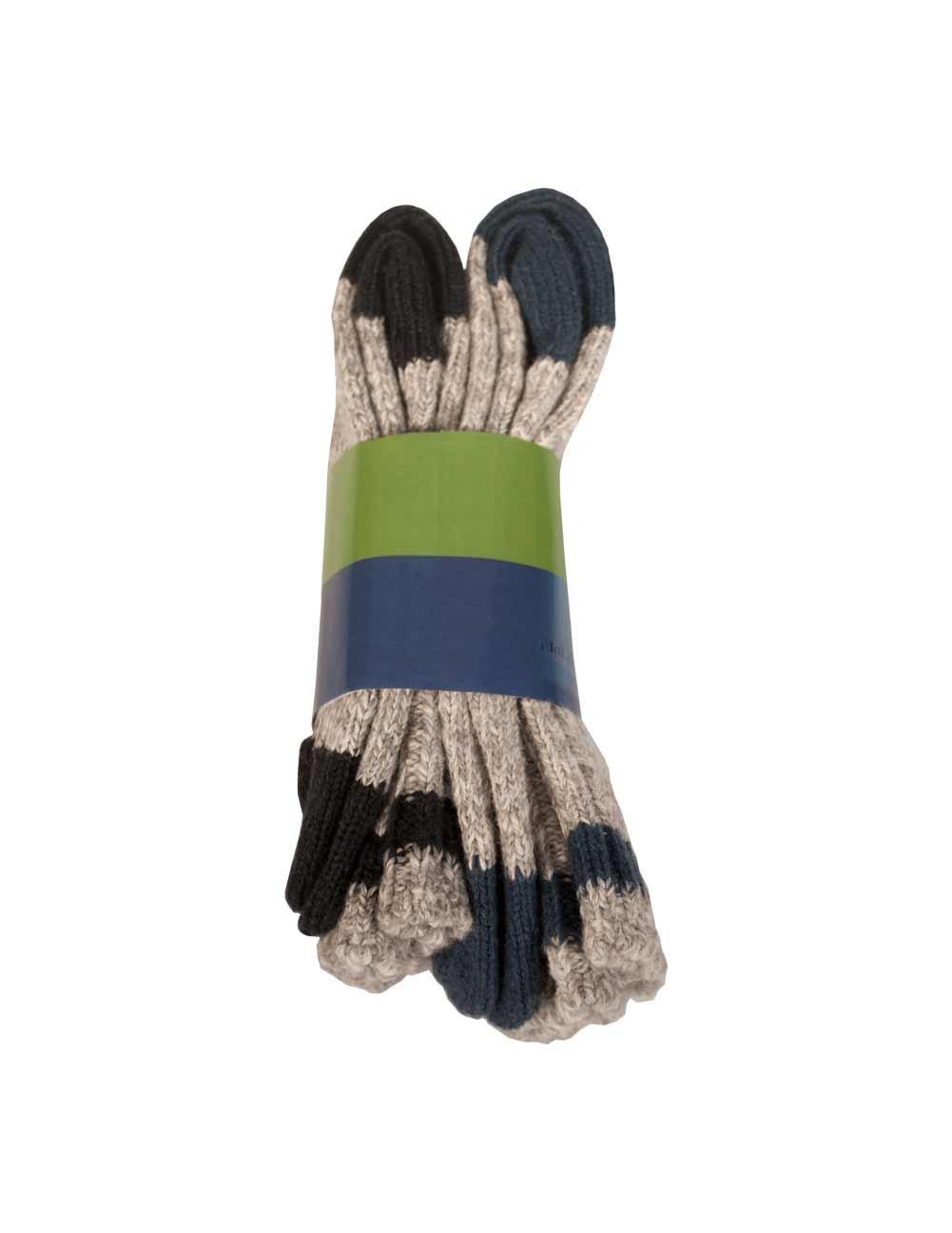 Men's 2 Pack Hicking Socks Style 1561B-01_Blue, black Duray
