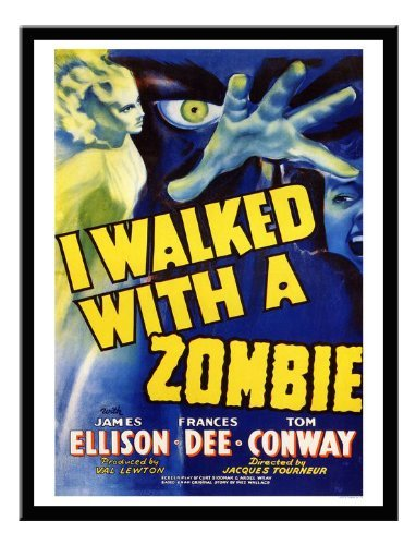 Iposters I Walked With A Zombie Movie Print Black Framed - 41 X 31 Cms (approx 16 X 12 Inches)
