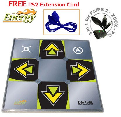 Free Dance Dance Revolution Pc - FREE PS2 Extension Cord and Dance Dance Revolution ENERGY metal dance pad for PS/ PS2 - Xbox - PC