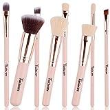 Kabuki Brush,8 Pcs Professional Foundation Make Up Brush Eyeshadow Makeup Brush Set Blusher Concealer Powder Kabuki Face Brushes Cosmetic Brushes Kit (Flesh)