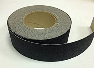 "Safe Way Traction 2"" X 60' Foot Roll of Black Adhesive Anti Slip Non Skid Abrasive Safety Tape"