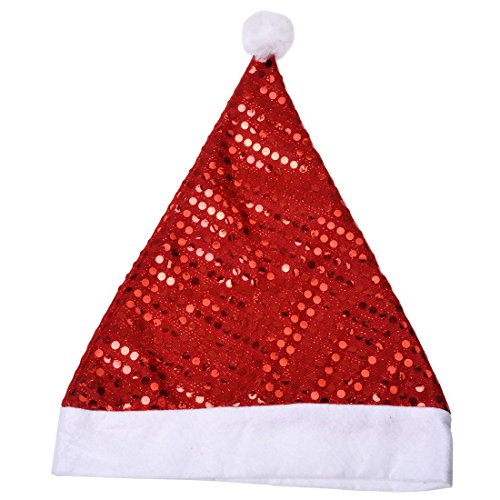 Bottles - Deluxe Sequin Santa Hat Outfit Accessory Fancy Dress - Leakproof Kitchen Insulated Kleen Nautical Lids Reusable Lights Into Coquito ()