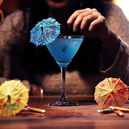 Xinlie Cocktailschirmchen Cocktail Sonnenschirme Tropische Cocktailpartys Cocktail Dekoration Papier Deko-Picker für Bar Deko Cocktailzubehör Trinkfrüchte Essen Wein Party Muticolors(100 Stück)