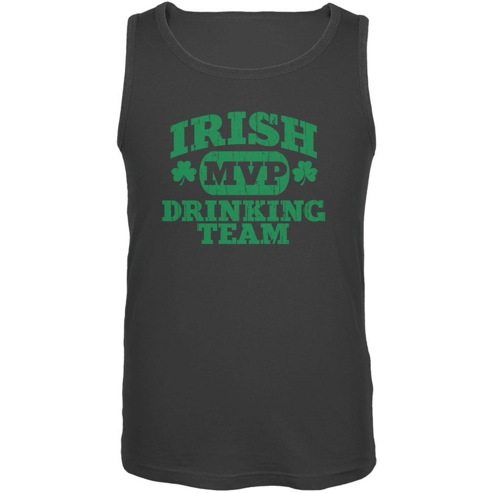 Old Glory Irish Drinking Team Charcoal Adult Tank Top