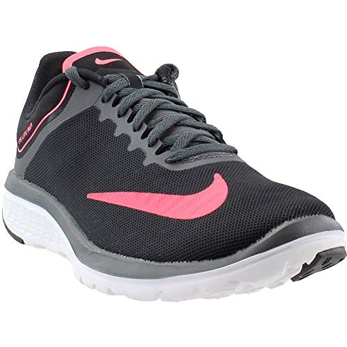 Nike Women's FS Lite Run 4 Running Shoe Black/Hot Punch/Dark Grey/White Size 6.5 M US ()