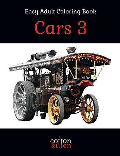 Cars 3 - Easy Adult Coloring Book: 49 of the most beautiful grayscale cars for a relaxed and joyful coloring time PDF ePub fb2 book