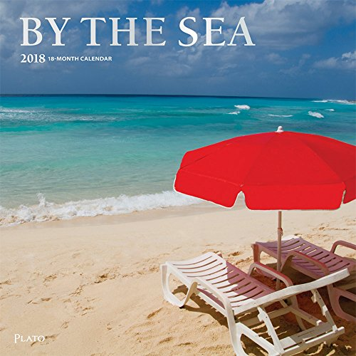 By The Sea 2018 12 x 12 Inch Monthly Square Wall Calendar with Foil Stamped Cover by Plato, Travel Nature Ocean Beach
