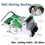 Giraffe-X 1100W Electric Wall Chaser Cutter Machine 25MM Blade,110V Self-priming Dedusting Wall Groove Cutting Machine, Industrial Wall Chaser Machine for Brick Granite Marble Concrete Cutter (Green)
