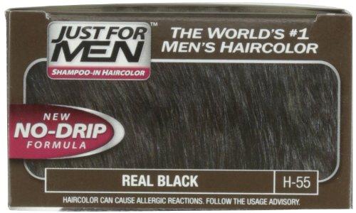 Just For Men Original Formula Men's Hair Color, Real Black, (Pack of 3)