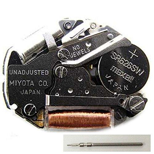 Original Miyota 2035 Analog Quartz Movement 3-Hands Stem Battery Included (Stem Hand)