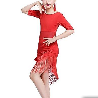 IEFIEL Vestido de Baile Latino para Niñas Traje de Latin Sevillana ...