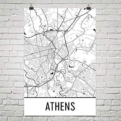 Map Of Georgia Athens.Amazon Com Athens Ga Poster Athens Ga Art Print Athens Ga