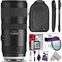 Tamron SP 70-200mm f/2.8 Di VC USD G2 Lens for CANON EF Cameras w/ Advanced Photo and Travel Bundle
