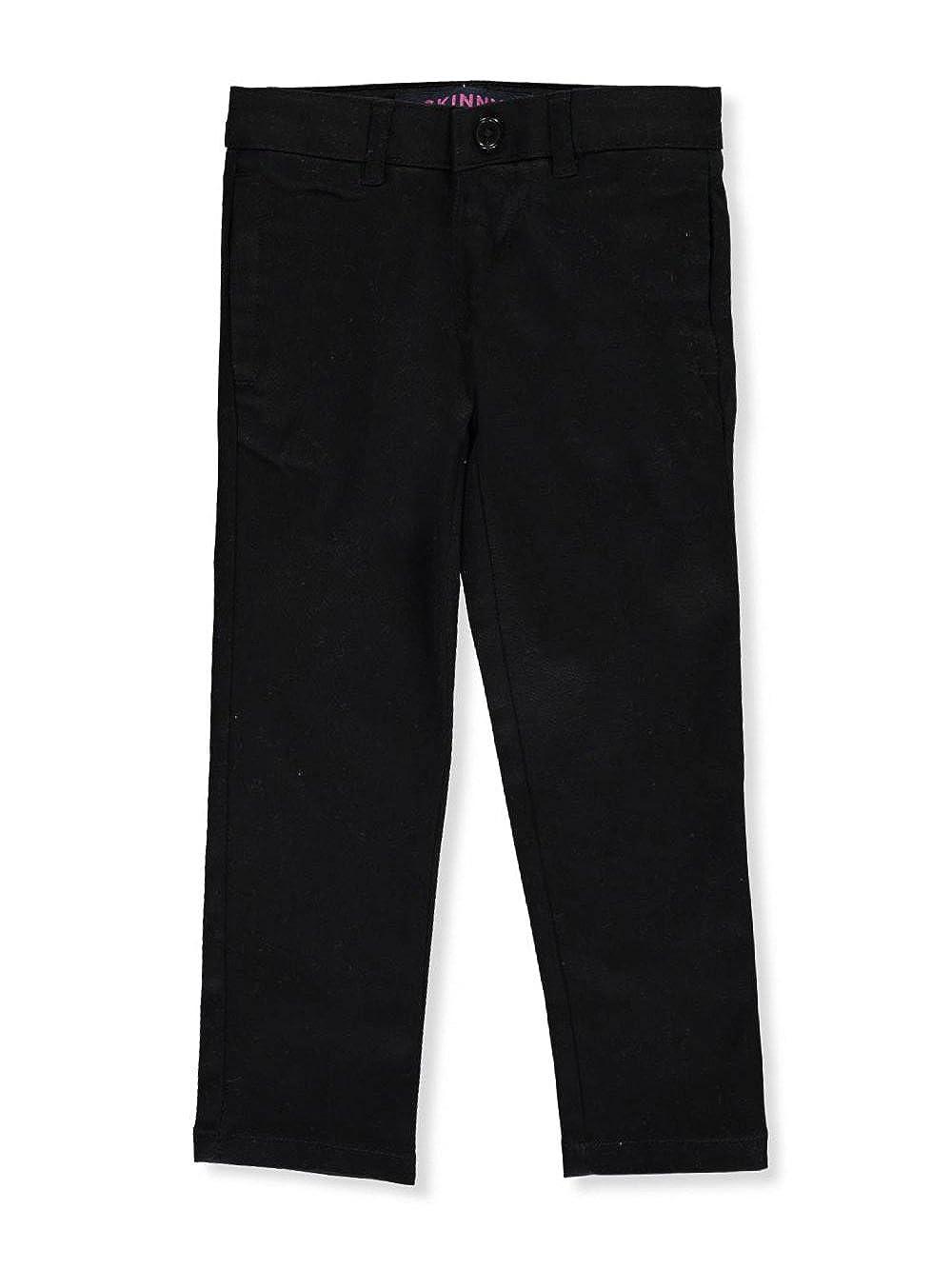 6X French Toast Little Girls Stretch Twill Skinny Uniform Pants Black