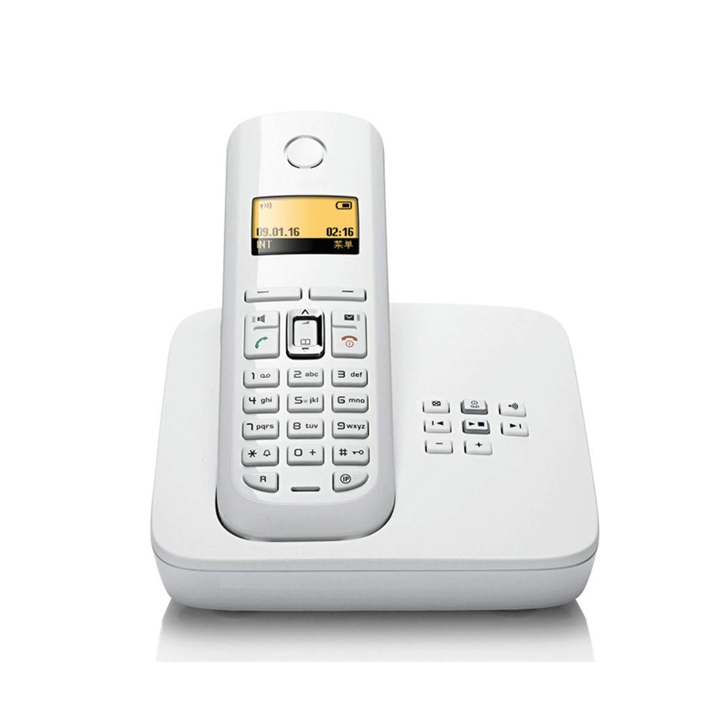 LCM Retro Telephone Creative Minimalist Office Home Wired Fixed Landline (Color : White) by LCM