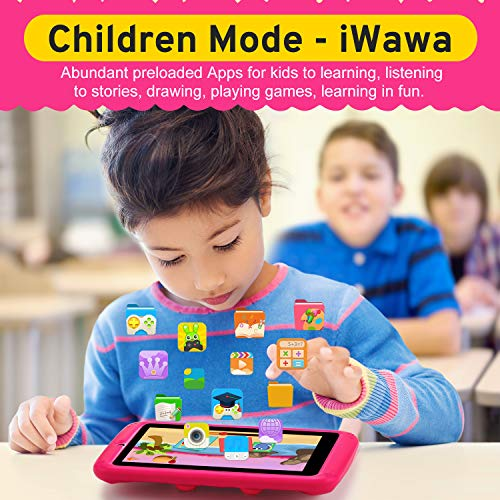 PROGRACE Kids Tablets Android 9 QuadCore 2GB RAM 16GB ROM Learning Tablet for Kids Girls Toy Gift with Parental Control Toddler Children\'s Tablet 7\