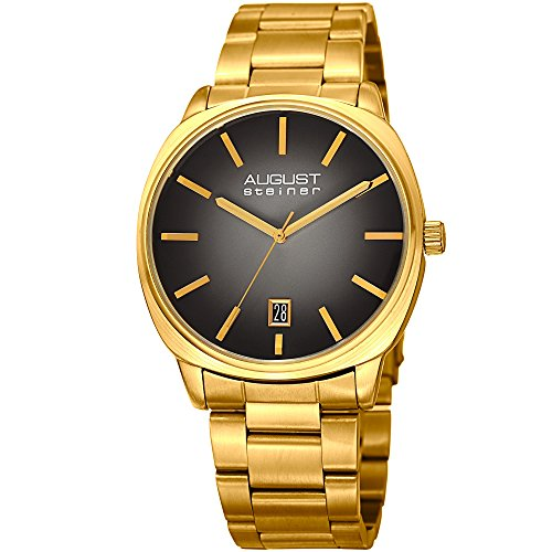 August-Steiner-Mens-Quartz-Stainless-Steel-Casual-Watch-ColorGold-Toned-Model-AS8237YGB