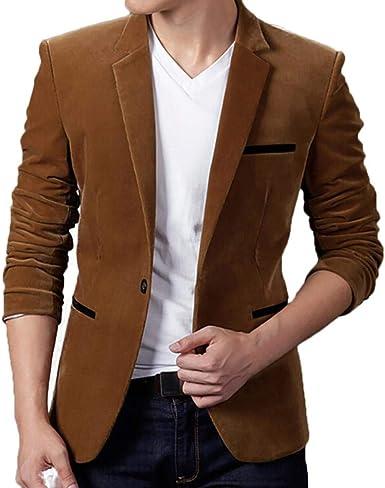 Une Veste Manteau Costume Jeunesse Longues Décontractée Slim