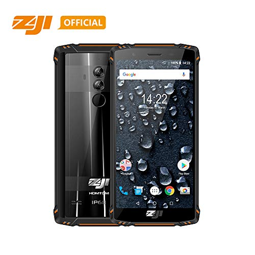 Original ZOJI Z9 6GB RAM 64GB ROM IP68 5500mAh Waterproof Smartphone Heart Rate Android 8.1 5.7inch Face ID Mobile Phone Fingerprint FDDLTE 4G Helio P23 MTK6763 Octa-Core 21MP Camera Cell Phone-Orange (Cell Phones Unlocked 21 Mp)