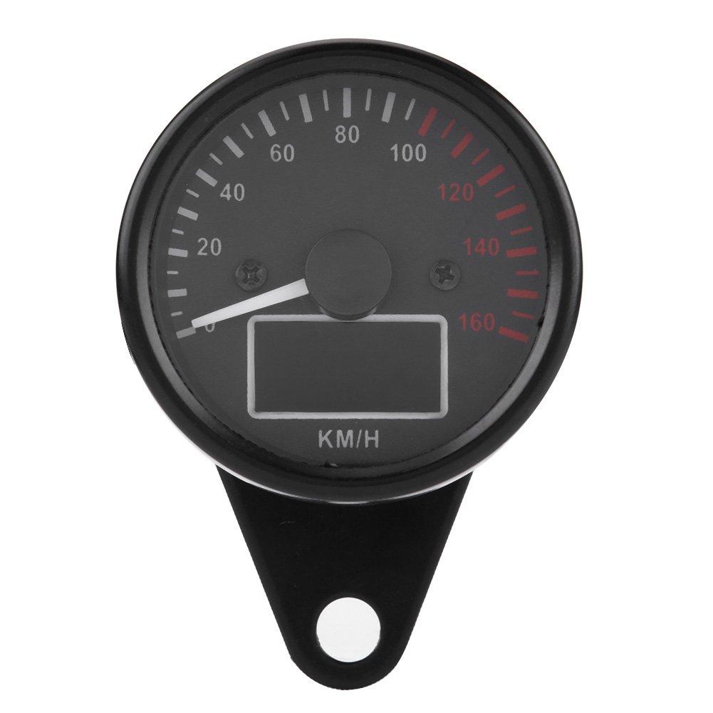 Digitale universale moto tachimetro calibro LED LCD, Keenso kmh moto tachimetro velocità 160kmh DC12V Keenso kmh moto tachimetro velocità 160kmh DC12V