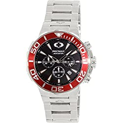 Precimax Men's PX14014 Instinct Pro Analog Display Japanese Quartz Silver Watch