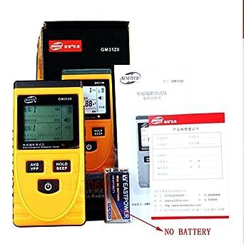 BENETECH Digital LCD Detector de radiación electromagnética dosímetro probador EMF Meter Medición contador para ordenador teléfono móvil, ...