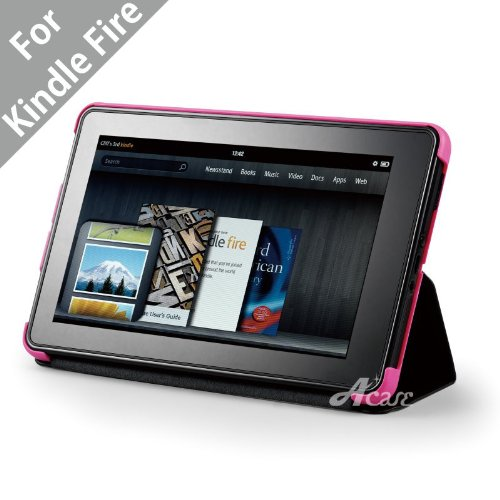 Acase(TM Deluxe Lightweight MicroShell Case Folio with built-in Stand for Kindle Fire Full Color 7
