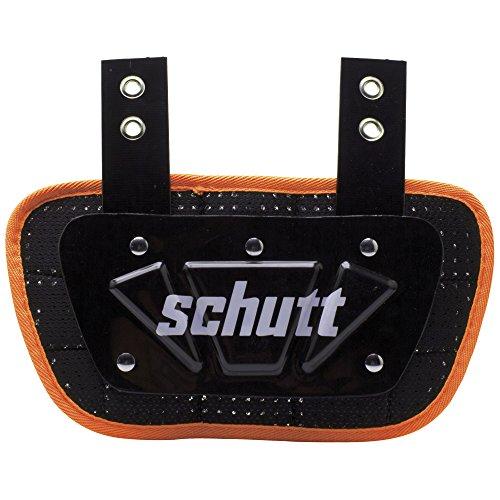 (Schutt Sports Neon Football Back Plate, Neon Orange, Youth)