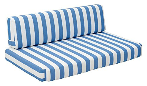Bilander Sofa Cushions Blue White Dimensions: 51.6''W x 31.5''D x 5''H Weight: 18 lbs by Zuo Modern