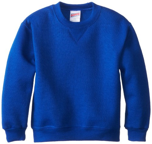 Soffe Little Boys' Crew Sweatshirt, Royal, Small