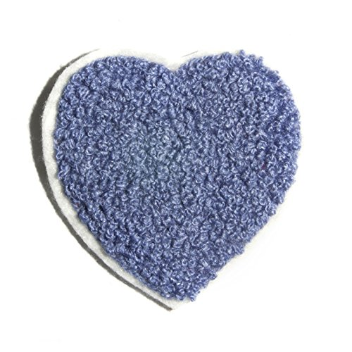 Heart Iron on Patch Embroidered Decoration Chenille Applique 2.5 L x 2.5 W inches