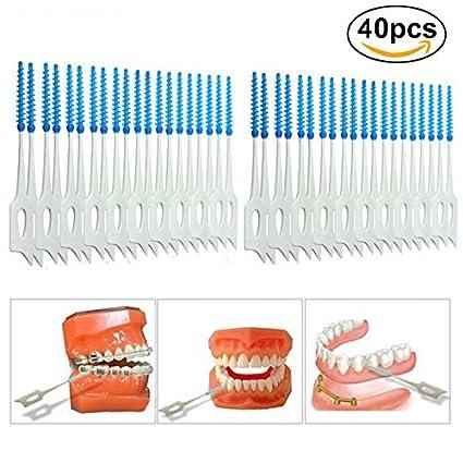 Kit de cepillo de limpieza limpiadores de palillo de dientes diente dental interdental palillo de dientes