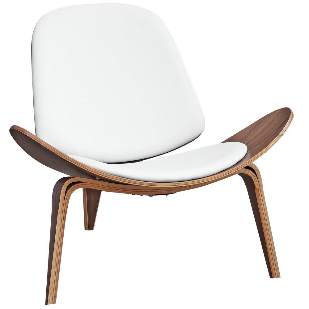 amazoncom  designer modern wegner shell chair white  chairs -