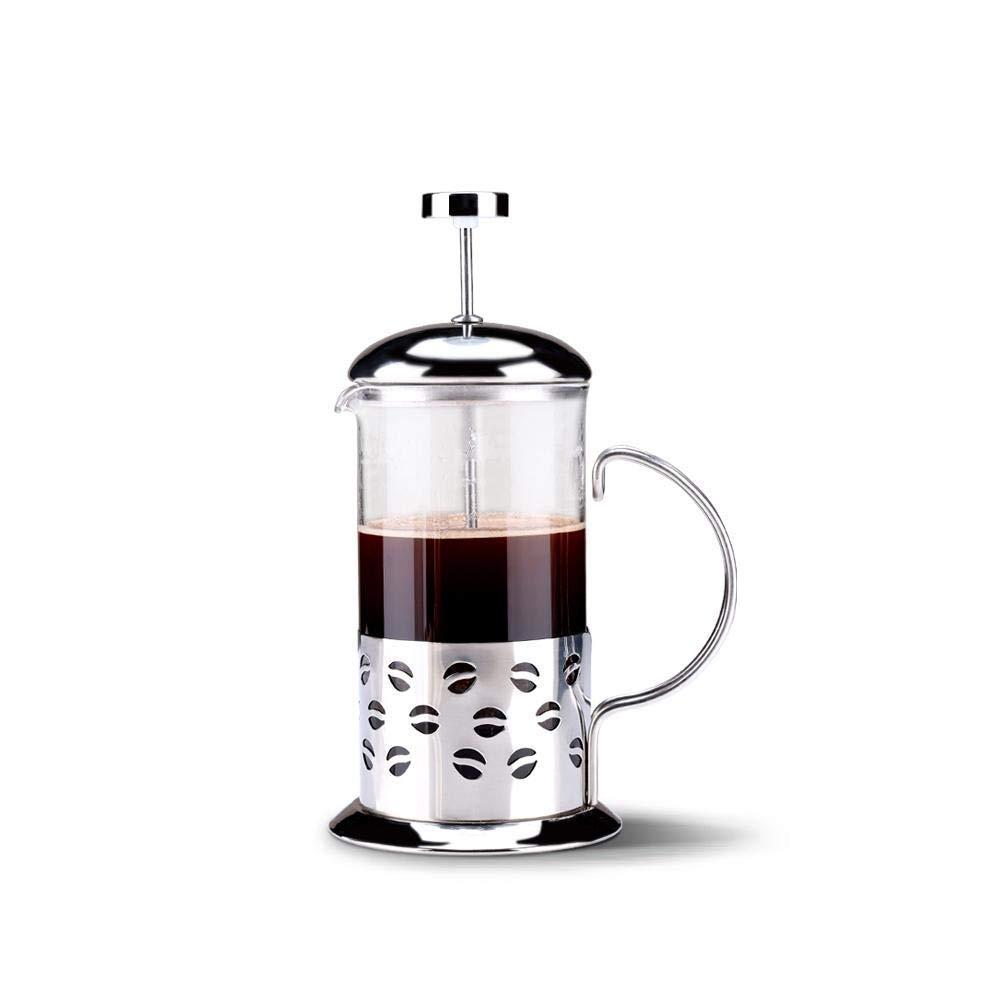 Acquisto SCJS Caffettiera, caffettiera Francese, Acciaio Inossidabile, Vetro Resistente al Calore Prezzi offerta