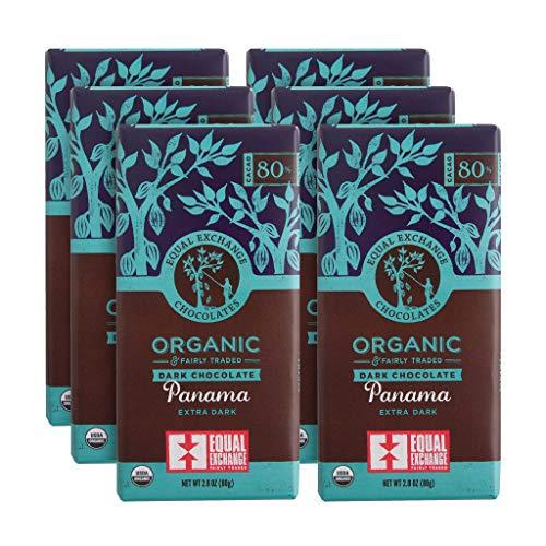 Equal Exchange Organic Panama Extra Dark Chocolate    2.8 Ounce (Pack of - Exchange 80 Equal