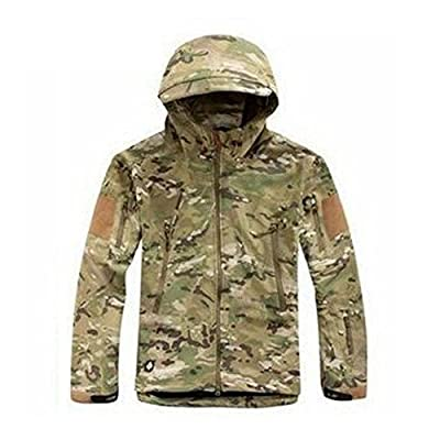 Waterproof Military Tactical Combat Softshell Jacket Outdoor Camping Hiking Camouflage Hoodie Coat