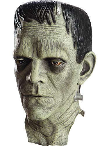 Rubie's Costume Co Men's Universal Monsters Frankenstein Deluxe Overhead Mask, As Shown, One Size
