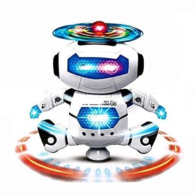 ELSKY Electronic Walking & Dancing Robot Kit, Astronaut Kids Music Lightening Toys, Smart Robot Set for Kids Children