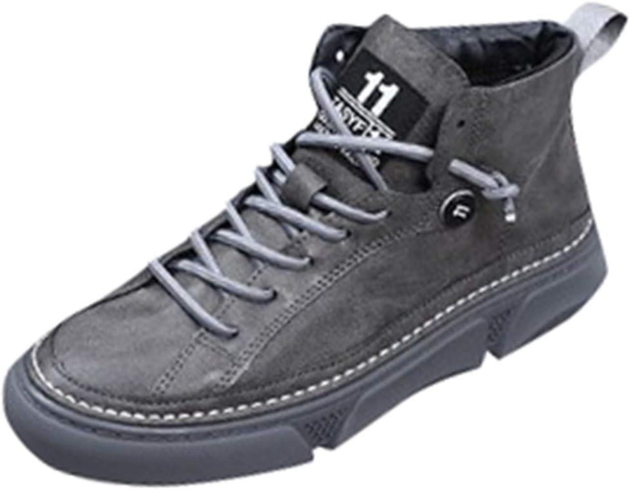 ALISIAM Zapatos Botas Retro de caña Alta para Hombre Zapatos